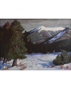 SOLD Fremont Ellis (1897-1985) - Winter Landscape, Truchas