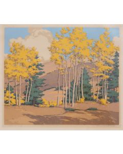 SOLD Norma Bassett Hall (1888-1957) - Aspen and Spruce