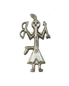Navajo Silver Yei with Bow and Arrow