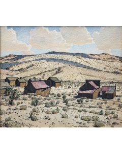 SOLD Don Perceval (1908-1979) - Ghost Town, White Hills, AZ