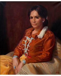 SOLD Ramon Mitchell Froman (1908-1980) - Navajo Maiden
