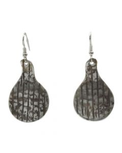Robert Carlson - Cherokee Sterling Silver Handmade French Hook Earrings