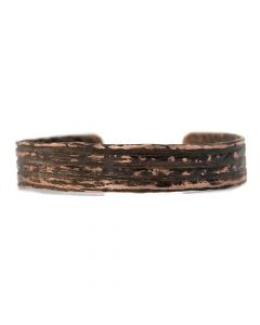 Robert Carlson - Cherokee Hand-hammered Copper Bracelet, Size 6.5