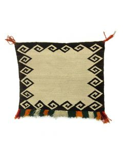 "Navajo Single Saddle Blanket c. 1930, 28"" x 32"""