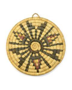 """Hopi Polychrome Coiled Plaque c. 1930s, 9"""" diameter"""