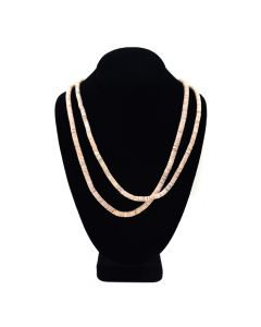 "Santo Domingo Two Strand Heishi Necklace c. 1960, 30"" length"