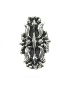 Robert Shakey - Navajo Silver Ring c. 1980, size 8.25