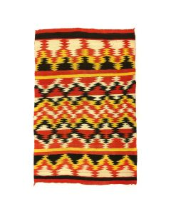 "Navajo Transitional Blanket c. 1890, 85"" x 58"""