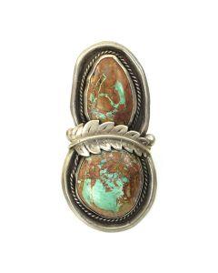 Madeline Beyuka - Zuni Turquoise and Silver Ring c. 1950, size 9