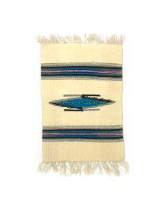"Chimayo Sampler c. 1950, 18"" x 10.25"""
