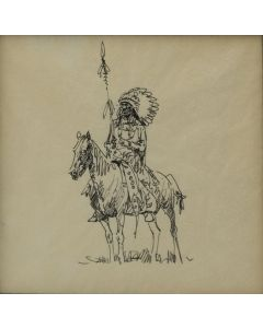 Edward Borein (1872-1945) - Plains Indian