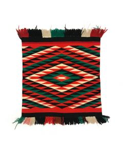 "Navajo Germantown Sampler c. 1890, 26"" x 21.5"""
