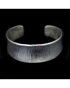 Duane Maktima Hopi/Laguna - Sterling Silver Textured Bracelet