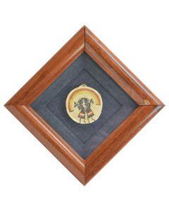 """Hopi Miniature Polychrome Tray c. 1960, 2.5"""" diameter"""