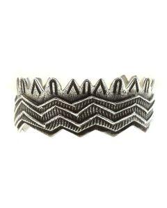 Jonah Hill - Hopi Tufa Cast Silver Bracelet, size 6.5