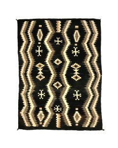 "Navajo Crystal Rug with Spiderwoman Crosses c. 1910, 79"" x 58"""