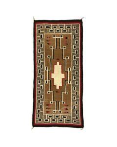"Navajo Klagetoh Rug with Feather Pictorials c. 1920, 97"" x 47"""