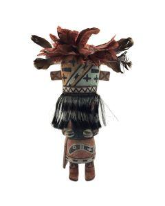 """Hopi Hilili Variant Kachina c. 2000, 14"""" x 8"""" x 6"""""""