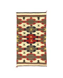 "Navajo Red Mesa Rug c. 1930, 59"" x 32.5"""
