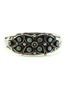 L. Spencer - Navajo Turquoise and Silver Bracelet c. 1960, size 6.5