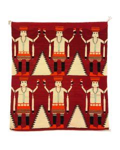 Navajo Six Figure Yei Rug c. 1920, 79.5 x 67