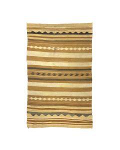 "Navajo Chinle Rug with Vegetal Dyes c. 1940, 78"" x 47"""