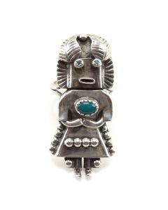Orville Manygoat - Navajo Turquoise and Silver Kac