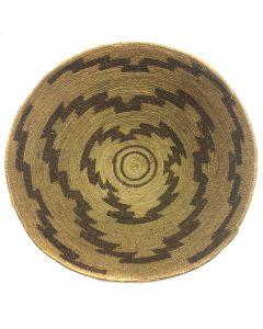 "Maidu Basket with Jagged Line Pattern c. 1900, 5.5"" x 17.5"""
