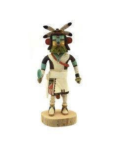 "D. Adams - Contemporary Hopi/Tewa Harvester Kachina, 10"" x 4.5"" x 4"""