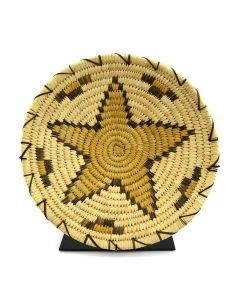 "Tohono O'odham Basket with Star Design c. 1960, 2.25"" x 13"""