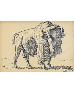 Maynard Dixon (1875-1946) - SOLD - Buffalo
