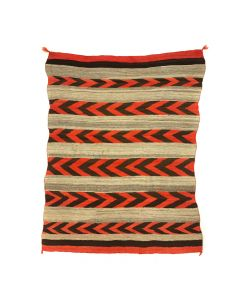 "Navajo Transitional Blanket c. 1890, 59"" x 42"""