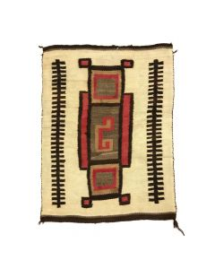 "Navajo Transitional Crystal Rug c. 1900s, 49"" x 39"""