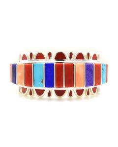 Vernon Haskie - Contemporary Navajo Multi-stone Inlay Bracelet, size 7