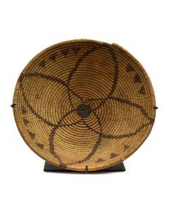 "Apache Basket with Star Design c. 1940-50, 2.5"" x 12.5"""