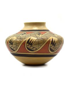 Fannie Nampeyo (1900-1987) - Hopi Polychrome Vase with Migration Pattern