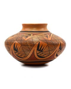 Leah Garcia Nampeyo (1928-1974) - Hopi Polychrome Jar with Migration Pattern