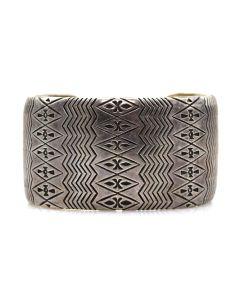 Thomas Curtis (1942-2013) - Navajo Sterling Silver Bracelet c. 1980s, size 7