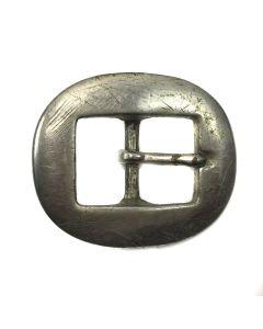 """Navajo Silver Belt Buckle c. 1940s, 1.75"""" x 2"""""""
