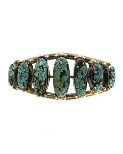 Navajo Turquoise and Silver Bracelet c. , size 6.5