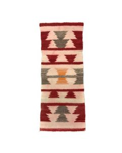 "Navajo Gallup Throw c. 1900s, 36"" x 14.5"""