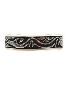 B.G. Mudd - Sterling Silver Overlay Bracelet c. 1970-80s, size 6.5