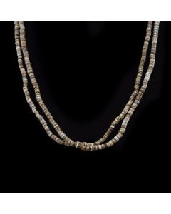 "Santo Domingo Two Strand Heishi Necklace c. 1960s, 27"" length"