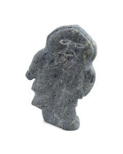 "A. Kilabuk of Pangnirtung - Inuit Grey Soapstone Figure c. 1978, 6"" x 2"" x 7"""