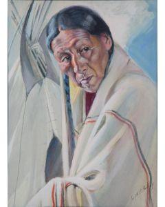 SOLD Joseph Imhof (1871-1955) - Xieno (War Bonnet)