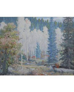 SOLD Carl von Hassler (1887-1969) - Aspens
