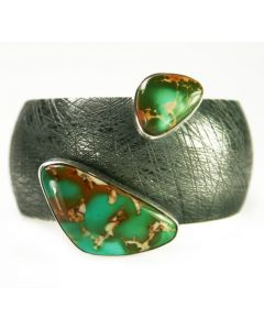 SOLD Sam Patania - Royston Turquoise and Sterling Silver Bracelet