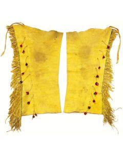 Apache Leather Leggings, circa 1900-10s