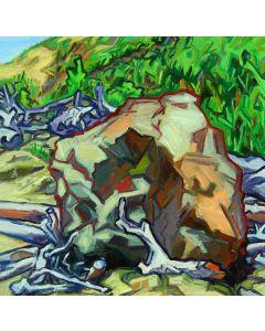 James Woodside - Driftwood and Rocks