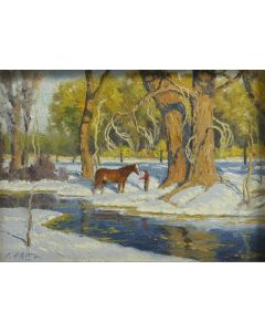 SOLD Charles Fritz - In the Winter Pasture
